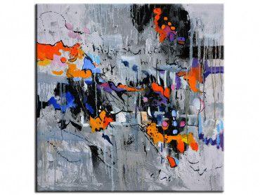 Tableau peinture abstraite city