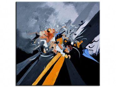 Tableau déco peinture abstraite or
