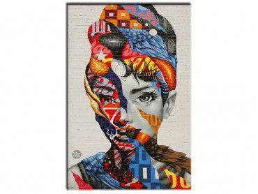 Tableau street art visage femme Speechless