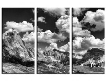 Tableau photo noir et blanc Dolomites