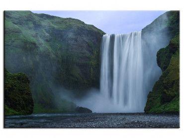 Tableau paysage cascade Skogafoss Islande
