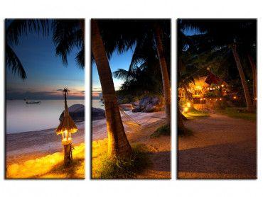 Tableau paysage paradisiaque île Koh Tao Thaïlande