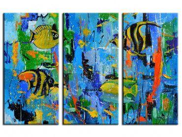 Tableau reproduction aquarium