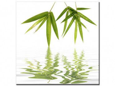 Tableau deco zen feuilles de bambous