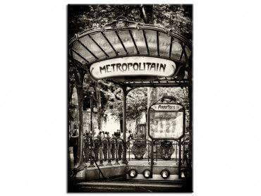 Tableau noir et blanc métropolitain Paris
