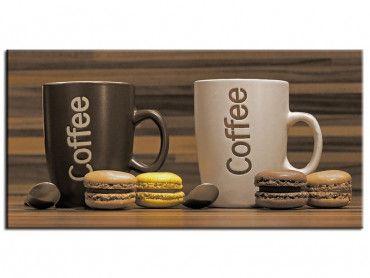 Tableau cuisine café et macarons