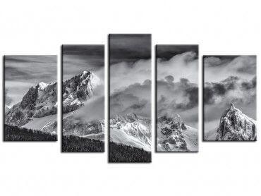 Tableau photo paysage noir et blanc Jarjatte