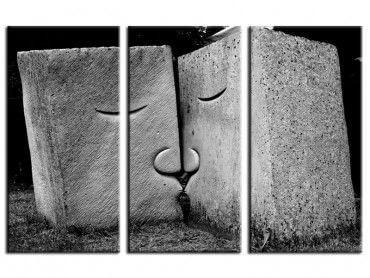 Tableau noir et blanc embrassez-vous
