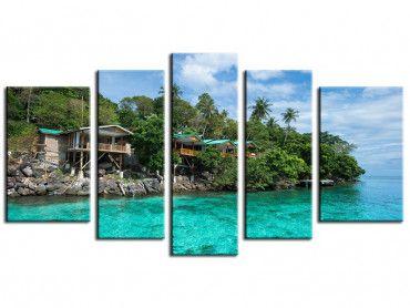 Tableau paysage exotique Indonésie