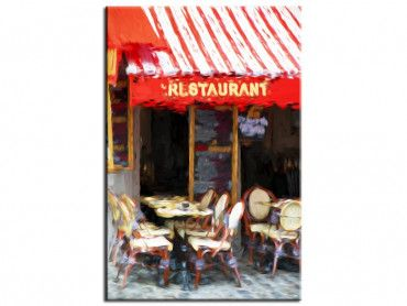 Tableau cadre oil painting restaurant