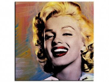 Tableau moderne Marilyn is laughing
