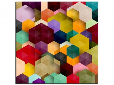 Tableau design abstrait Cubes