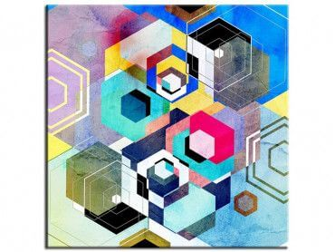 Tableau abstrait motifs géométriques Forma
