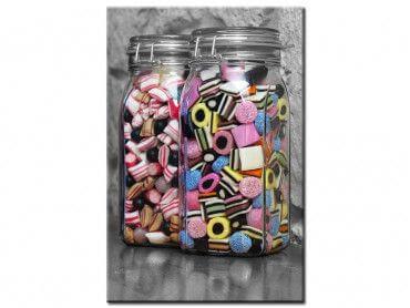 Tableau design bocaux de bonbons