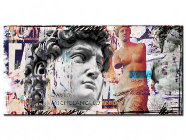 Tableau déco david et vénus
