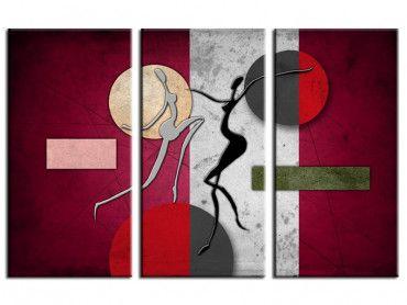 Tableau peinture design abstrait déco murale