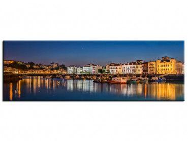 Tableau photographie port de St Jean de Luz de nuit