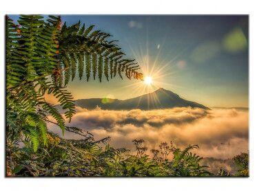 Tableau photo moderne levé de soleil sur la Rhune