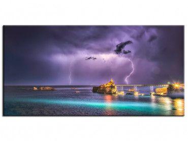Tableau photo décoration coup d'orage sur Biarritz