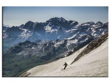 Tableau photo de paysage montagne skieur