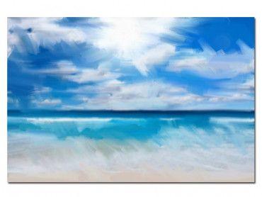 Tableau peinture design Seul dans l'océan