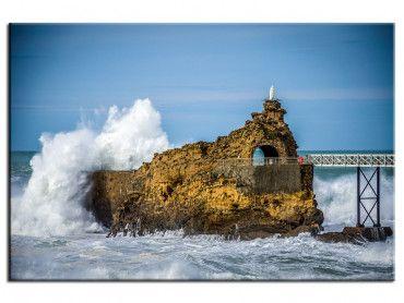 Tableau décoratif Rocher de la vierge Biarritz