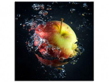 Tableau déco pommes et gouttes d'eau