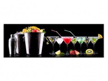 Tableau décoratif cuisine assortiment de cocktail
