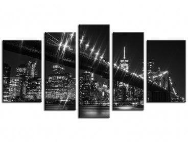 Tableau design Brooklyn brigde de nuit