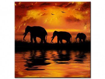 Tableau peinture décoration africaine