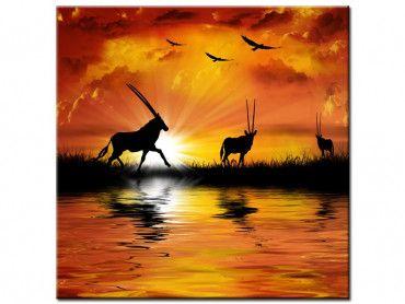 Tableau peinture paysages africains