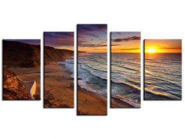 Tableau déco coucher de soleil sur l'océan