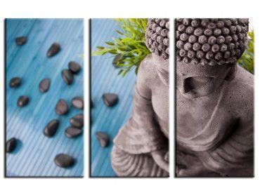Tableau zen déco buddha et bambous