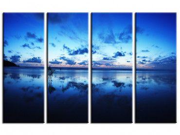 Tableau déco océan bleu