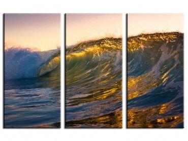 Tableau paysage marin sur coucher de soleil