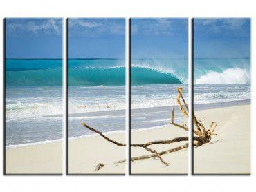 Tableau déco moderne plage de sable blanc