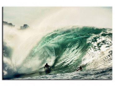 Tableau surf déco tube en bodyboard