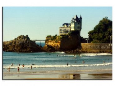 Tableau moderne photographie Biarritz