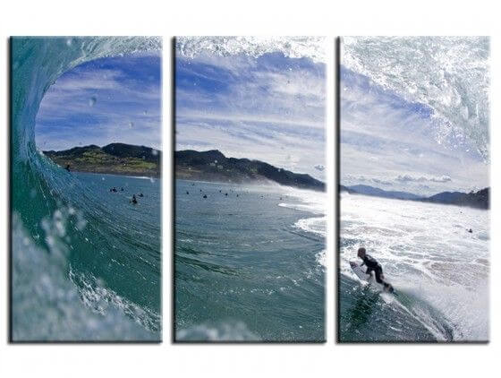 Tableau photo surf tube Mundaka