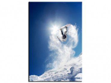 Tableau déco snowboarder montagne