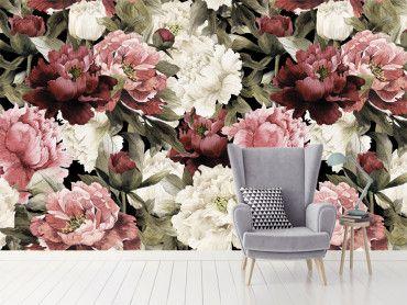 Papier peint fleuri