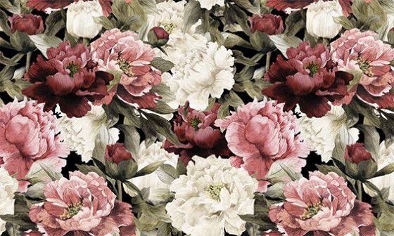 papier peint fleuri en intiss ou adh sif pas cher. Black Bedroom Furniture Sets. Home Design Ideas