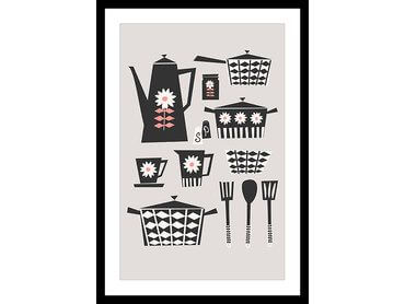 Affiche cuisine kitchen set