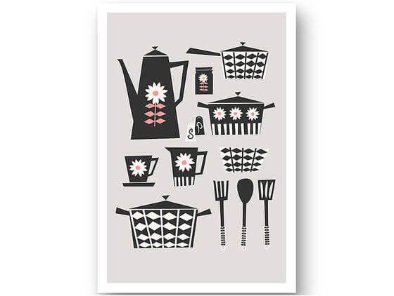 Affiche cuisine kitchen set