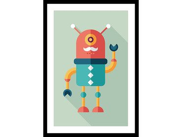 Poster robot moustachu