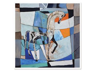 Cadre contemporain cheval grec
