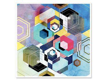 Cadre abstrait motifs géométriques Forma