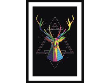 Cadre géométrique tête de cerf