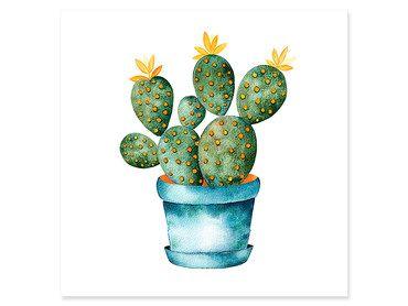 Affiche pot de cactus