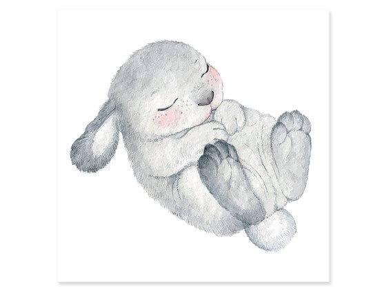 Cadre lapin endormi pour enfant